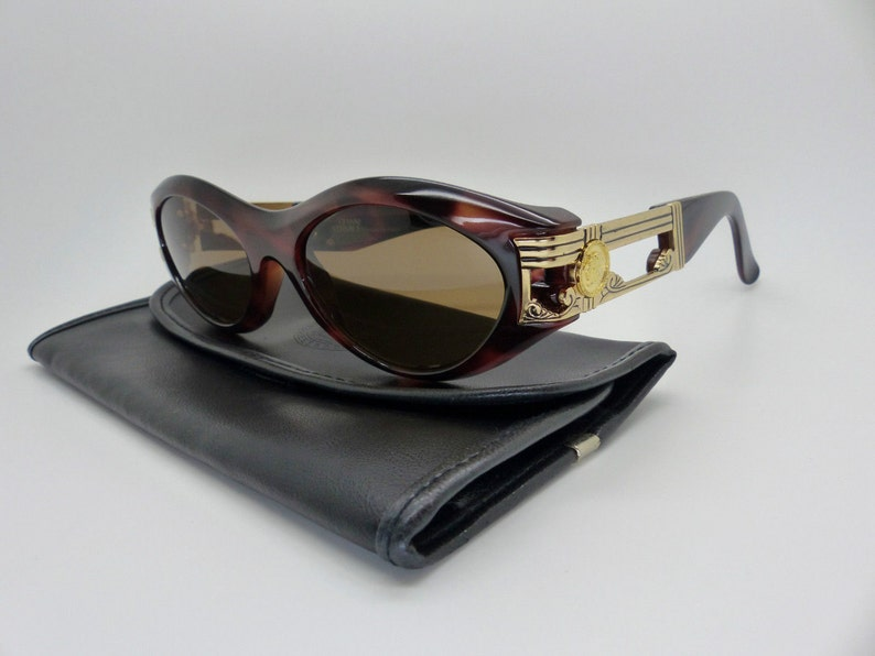 1f0162ad9793 Gianni Versace Sunglasses Mod 488 Col 900 New Old Stock   Etsy