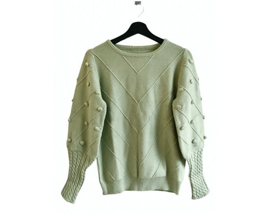 EXCELLENT CONDITION Vintage 80s mint green sweater