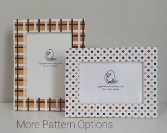 Decoupaged Frames Orange and Black Classic Halloween Coordinating Patterns