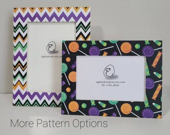 Halloween Theme 2 - Decoupaged Wood 4x6 Picture Frames - 12 Patterns Available