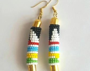 Colorful bead earrings, bead earrings, handmade earrings, earrings for women