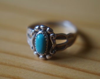 Carved Turquoise Ring