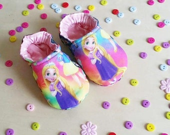"""Little soft baby shoes """"Rapunzel Tangled"""" 0- 18 months"""