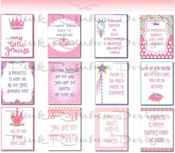Prinzessin Thema Lunch Box Grusskarte mit motivierenden | Etsy