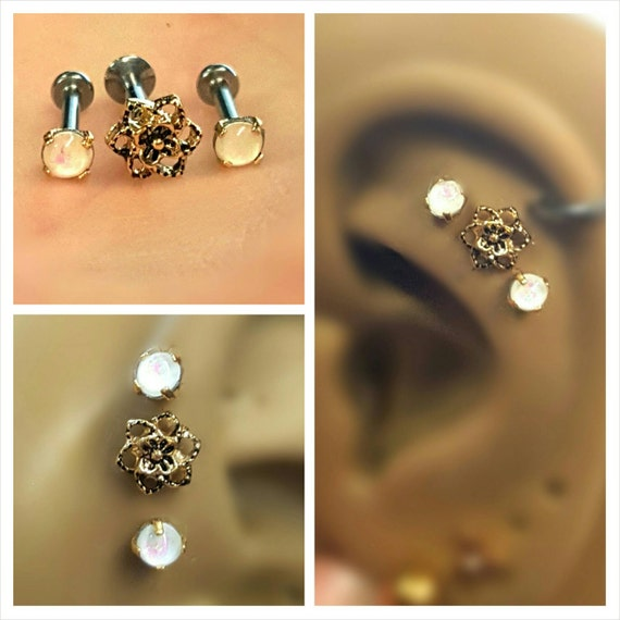Cartilage Studs Inspiration Dezigns 2mm x 9mm Bar Top Internally Threaded 316L Surgical Steel Labret Monroe