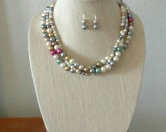 Multicolor Necklace & Earrings