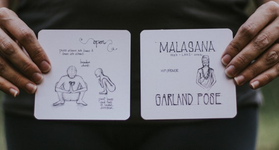 108 Asanas Flashcards Yoga Cards 108yogalove Align Etsy