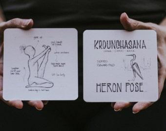 108 Asanas Flashcards \\ Yoga Cards \\ 108YogaLove \\ Align. Refine. Design .. The Union of Yoga & Art