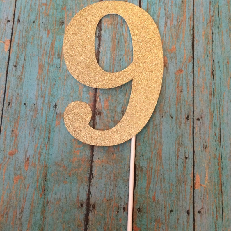 Number 9 Birthday Cake TopperNumbers 1 Topper9th