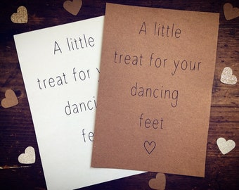 f76c8f92ba733d A little treat for your dancing feet - wedding sign