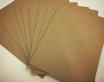 Recycled Brown A6 Kraft Envelopes - wedding stationery, gift card envelopes