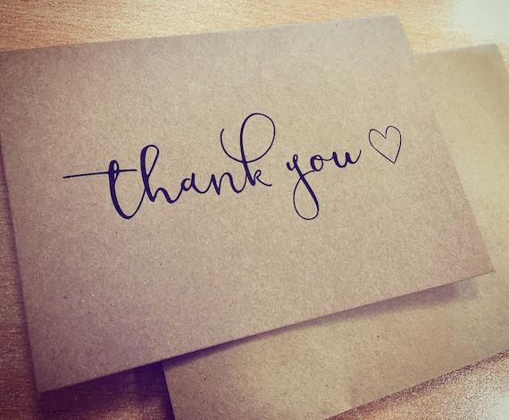Thank You Cards Kraft Notes Gift Card