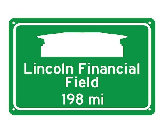 Philadelphia Lincoln Financial Field Miles To Stadium Etsy