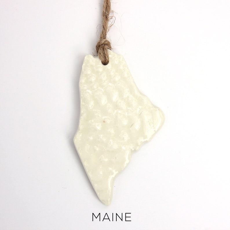 United States State Ornament custom ornament Maine State Ornament 50 states State pride Maine Ornament