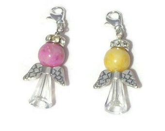 Angel Charm Custom made from your Flowers