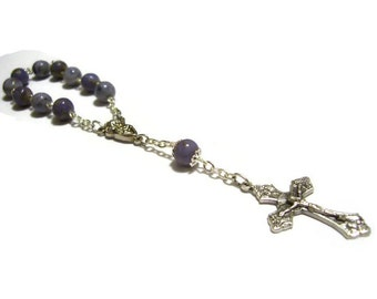 Single Decade Rosary Custom made from your Flowers