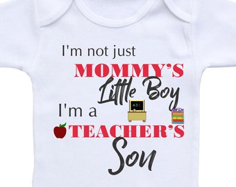 Personalised Baby Bib What Super Power Does Yours Have? My Mums is A Teacher