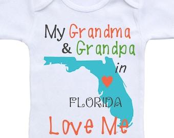 Baby Romper My Grandpa in South Carolina Loves Me