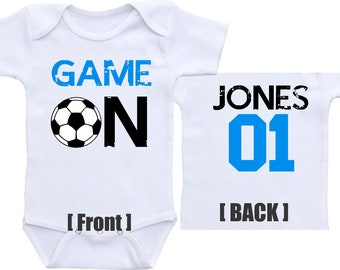 Soccer baby jersey Soccer baby outfit Sports baby gift Soccer baby gift  Sports onsies for boys Soccer baby onesie Soccer baby boy onesie 7a107c9f6