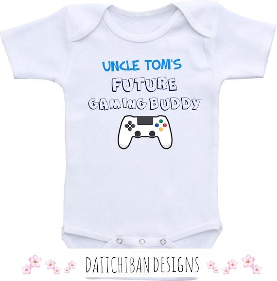 Uncle Future Video Game Buddy Beard Baby Onesie Shirt Gift Newborn Gerber