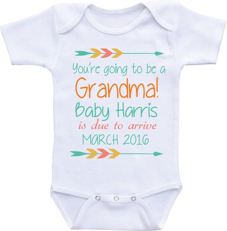 ab63c5317 New Baby Onesie Pregnancy announcement grandparents pregnancy   Etsy