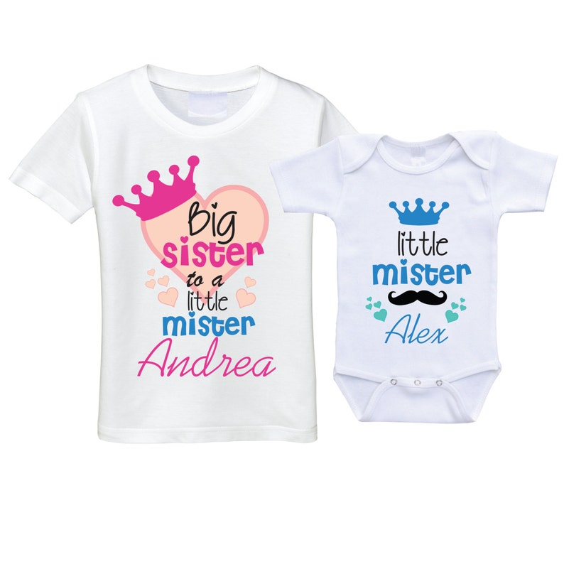 Big sister little brother outfits sibling SET big sis little bro sibling shirt sibling gift big sis lil bro shirts sibling outfit