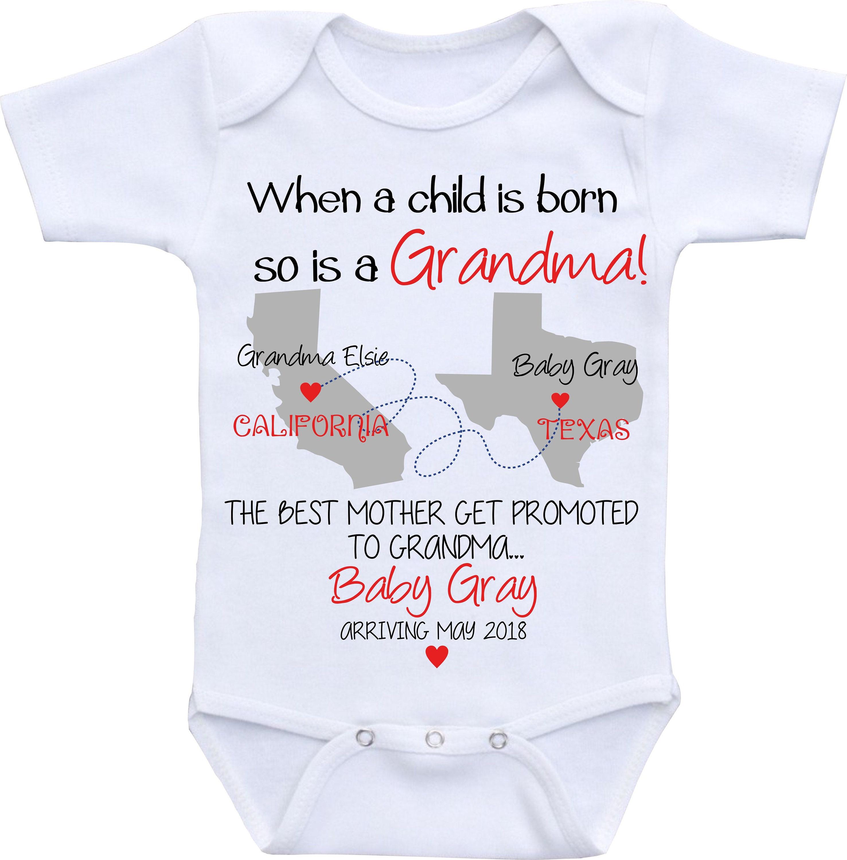 e83ca5a9e Grandma Baby Announcement shirt Pregnancy Announcement Onesie | Etsy