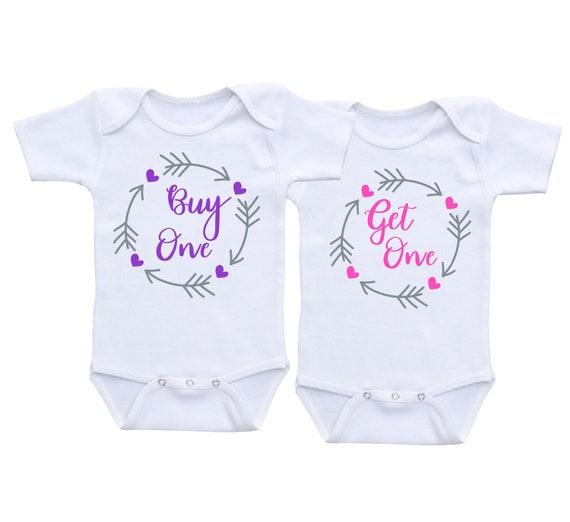 Tweeling Meisje Onesies Twin Baby Cadeau Twin Meisje Outfits Twin Onesies Twin Babykleding Twins Outfits Twins Onesies Twin Outfits Twin Babydouche