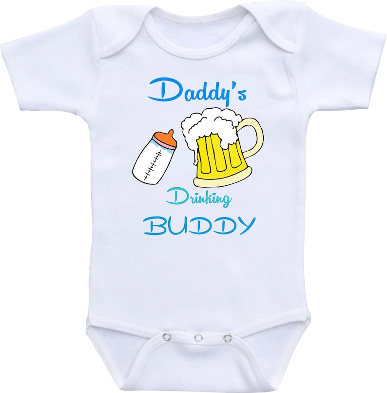5b5f6fa26 Daddy's Drinking Buddy Onesie Funny Baby Onesies Funny   Etsy