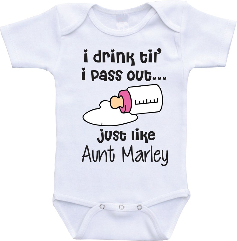 05e27a70a477e I drink until i pass out funny baby onesies aunt and niece | Etsy