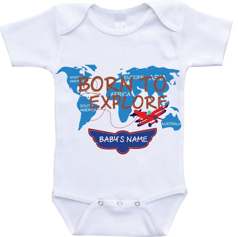 75259f06f Airplane Onesie Personalized Onesie Babyshower gift newborn