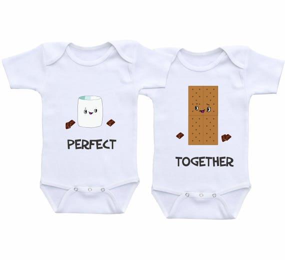 Twin Baby Cadeau Twins Outfits Jongen Meisje Tweeling Outfit Twin Bijpassende Outfit Twin Onesies Jongen En Meisje Twin Baby Rompers Twin Baby