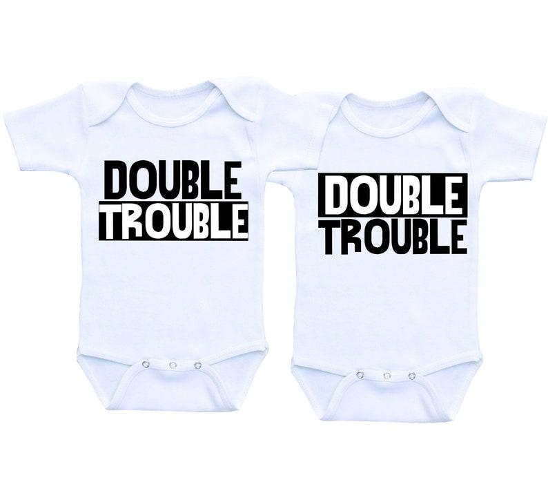 d82f3998688 Funny Twin Onesies boys Twin boys Twin outfits Boy Girl Twin