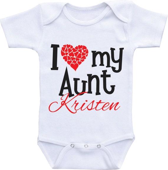 Love My Crazy Aunt Family Gerber OnesieRelatives Niece Nephew Baby Romper