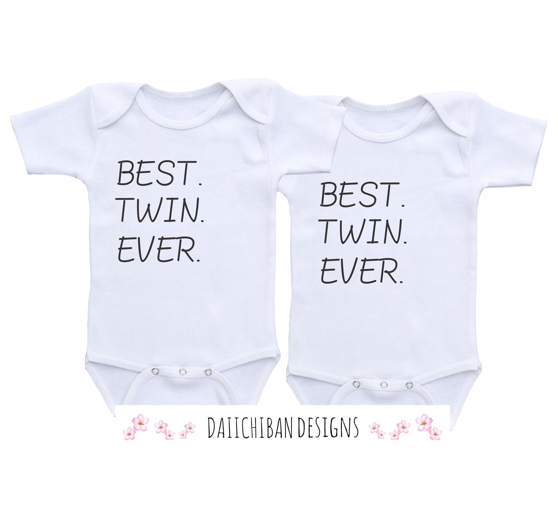 Beste Twin jemals Zwillinge Baby Geschenke Zwillinge Onesies   Etsy