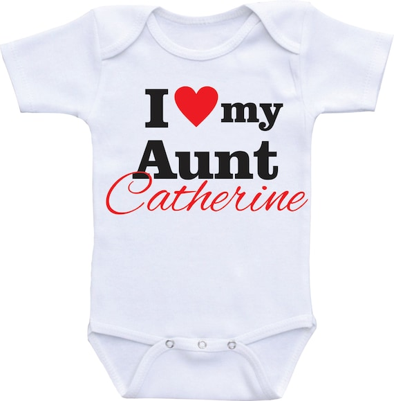 My Auntie Loves Me Embroidered Baby Vest Gift Personalised Aunt