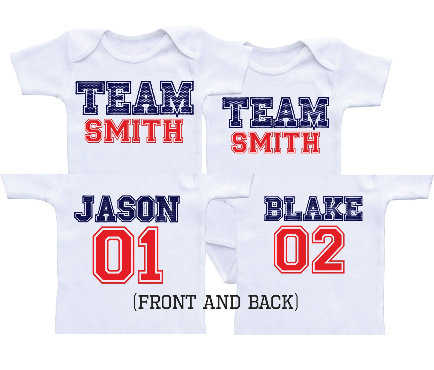 0541887fa2c Sports twin boy onesies boy twins baby gifts twin shirts twins etsy jpg  1500x1277 Twin boy