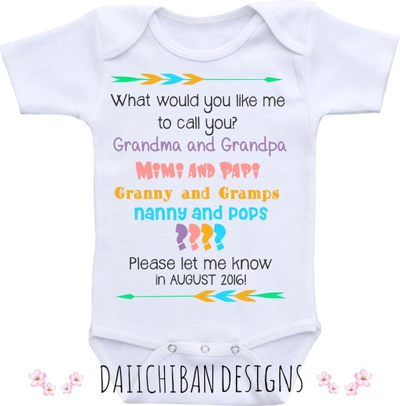 Baby Announcement Shirt Pregnancy Reveal to Grandparents Pregnancy Announcement Onesie\u00ae Pregnancy Announcement to Grandparents