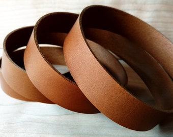"46"" Dark Tan Vegetable Tanned Leather Strap 2mm / 5oz, Italian Vegetable Tanned Leather Straps, Leather Strips for Tooling, Stamping, Crafts"