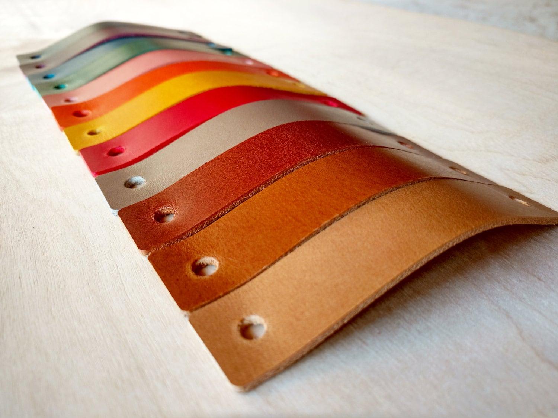 Leather Pulls / Handles, Drawer, Dresser, Cabinets, Door Handles ...