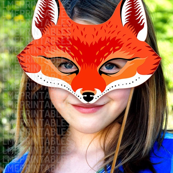 Red Fox Mask Printable Animal Masks Paper Childrens Party