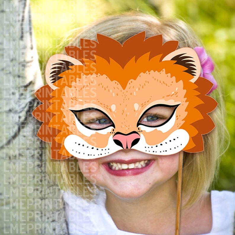 photo regarding Printable Lion Masks identify Lion Mask Printable Animal Masks Childrens Bash PDF Halloween Dress Feline The Lion King Birthday Carnival Masquerade Older people Young children Mardi