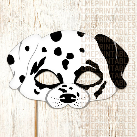 graphic about Dog Mask Printable identify Dalmatian Pet dog Mask Printable Animal Childrens Halloween Masks Noticed Pet White Celebration Dress Birthday Carnival Older people Little ones 101 Dalmatians