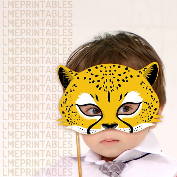 Cheetah Mask Printable Jaguar Leopard Animal Masks Childrens