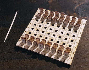 Personalized Mini Chess Set - Postcard Sized - Free Global Shipping