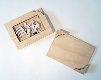 Schrödinger's dead cat in a box - hand cut with scroll saw  - Quantum experiment gone wrong - FREE GLOBAL SHIPPING
