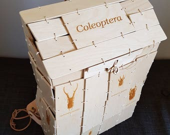 Wooden Backpack With Beetles - Coleoptera Bag