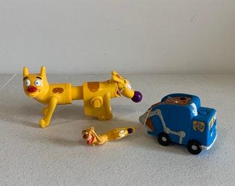 1571db4e83bd Vintage Cat Dog toy Lot, CatDog toys, 90s Catdog, Vintage Nickelodeon toy  figures