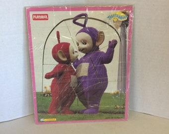 1998 Playskool Teletubbies 6 piece Jigsaw puzzle, 1998 Teletubbies Puzzle, Teletubbies Jigsaw puzzle, Playskool puzzle, Teletubbies Puzzle