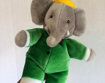 Babar Elephant Plush Etsy